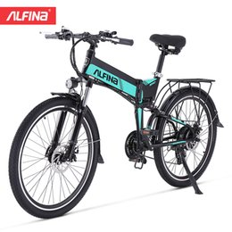 Wholesale hot youtube for sale – custom Alfina new Youtube Super Hot Smart Electric Bike W Km Mountain Speed Ebike Electric Bike Factory Direct Sale