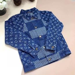 Wholesale down jean resale online – new Children Baby Girls jeans Coat Kids girls boy Fashion Outwear Autumn denim Jacket