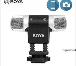 wireless head microphones NZ - BOYA BY-MM3 Dual Head Stereo Video Record Microphone for DSLR Camera Smartphone Osmo Pocket Youtube Vlogging Mic for iP Android DSLR Gimbal