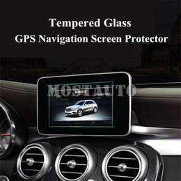 Wholesale temper class for sale - Group buy For Benz C Class W205 S205 Tempered Glass GPS Navigation Screen Protector
