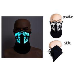 venda por atacado Moda 41 Styles EL Máscara Máscara LED Flash com som ativo para Dancing máscaras do partido do Controle por Voz equitação de patinagem do partido