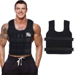 Wholesale vest weights for sale - Group buy 30KG Exercise Loading Weight Vest Boxing Running Sling Weight Training Workout Fitness Adjustable Waistcoat Jacket Sand Clothing