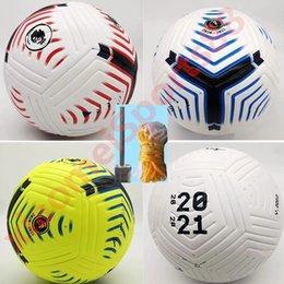 Vente en gros Club League 2020 2021 Taille 5 ballons de soccer balle belle de haute qualité match de liga Premer 20 21 balles de football (PSIR les balles sans air)