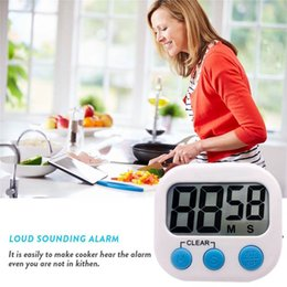 magnetic kitchen UK - Magnetic Kitchen Timer with Stand LCD Screen Digital Cooking baking sport timer Reminder Countdown time Alarm Kitchen Accessories gadgets
