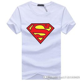 Wholesale superman shirts online – design 2020 summer new short sleeve T shirt for men years old plus fat plus size youth half sleeve T shirt Superman
