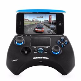 ios controllers UK - ipega PG-9028 Bluetooth Wireless Game Pad Controller Gamepads Joystick Stretchable Holder Touchpad For Android iOS PC Tablet