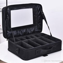 box handbags NZ - Professional makeup shoulder bag cosmetic big toolbox storage handbag with mirror travel beauty nail box messenger bags women suitcase