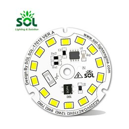 input modules Canada - Round LED Module 5W 9W 12W AC 220V Or 110V Input White For Down Light Wall lamp