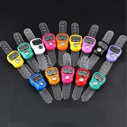 DHL FedEx Freies Verschiffen 200 stücke Mini Hand Hold Band Tally Counter LCD Digital-Bildschirm Fingerring Elektronische Kopfzählung TASBEEH TASBIH im Angebot