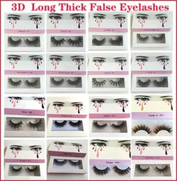 soft false eyelashes Canada - Hot Eyelashes 3D Mink Lashes Long Thick False Eyelashes High Volume Eyelashes Handmade Makeup Eyelash Soft