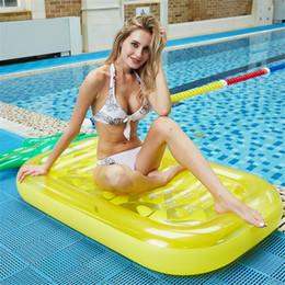 Ingrosso Toy Beach sedile gonfiabile gigante Swim Pool Galleggianti zattera nuoto Acqua Fun Sports per il bambino adulto bambino Air Materassi Salvagente