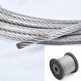 coating cable NZ - 10 Meter Steel PVC Coated Flexible Wire Rope soft Cable Transparent Stainless Steel Clothesline Diameter 1mm 1.2mm 1.5mm 2mm 3mm fBU4#