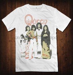 vintage rock clothing UK - Queen Vintage Rock T-shirt Freddie Mercury Tee Men All Sizes Tees Brand Clothing Funny T Shirt Top Tee 2018 Fashion