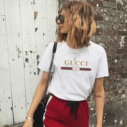 Wholesale ladies summer tops online – Womens T Shirt Short Sleeve Summer Ladies bow Black White tshirt cotton tops o neck loose gûccì women summer tops