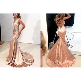 Опт Новый глубокий V кружева Backless бедра талии рыбий хвост вечернее платье свадебное платье