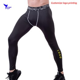 running stretch tight Australia - 2020 Quick Dry Base Layer Men's Running Leggings Gym Fitness Compression Pants Stretch Sportswear Tights Yoga Trousers Custom