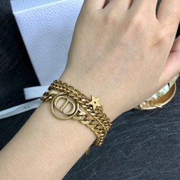 Опт Американской моды горячей продажи браслет дизайнер горячий шутник браслет цепи письмо браслет