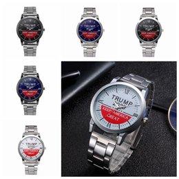 venda por atacado relógios de pulso Trump Relógios Trump 2020 Impresso Strap Watch Retro Carta Unisex Quartz Relógios de Crianças 5 estilos 30pcs CCA12314