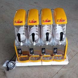 Hot selling commercial summer popular slush ice machine snow melting machine Four tank Ice slush maker machine 1500W on Sale