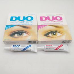 Wholesale DUO Eyelash Adhesive 9g 32oz Eye Lash Glue Makeup Adhesive Waterproof False Eyelashes Adhesives Glue with packing Practical Eyelash Glue