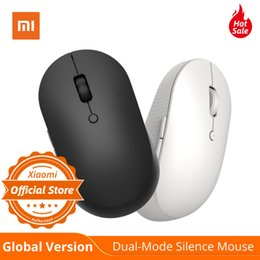 xiaomi button Australia - Global Version Xiaomi Wireless Dual-Mode Mouse Silent Ergonomic Bluetooth   USB connection Side buttons With Battary for Laptop