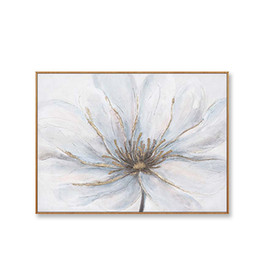 oil painting big flowers UK - Big Flowers Wall Decor on Canvas Hand Drawn Abstarct Oil Painting Acrylic Hanging Picture for Living Room Sofa Bedroom No Framed