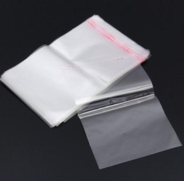 plastic resealable white bags Canada - Clear White Resealable Poly Bag Transparent Opp Packing Bag Self Adhesive Seal Plastic Package Bag without tag sock WY541-1