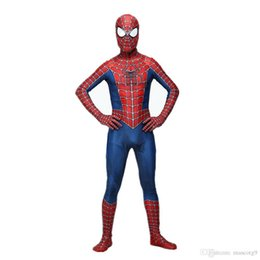 spider man cosplay zentai UK - Raimi Spiderman Costume 3D Printed Kids Adult Lycra Spandex Spider-man Costume For Halloween Cosplay Zentai Suit Free Shipping