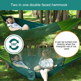 swing beds Australia - Ultraligh Portable Outdoor Camping Nylon Hanging Bed Mosquito Net Man Women Kids Comfortable Sleeping Swing Unisex Solid hammock