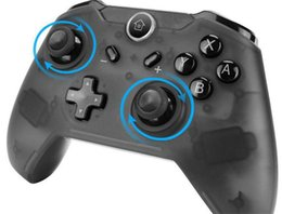 android game control NZ - New Arrival Bluetooth Wireless Game Controller Gamepad Joypad LEDs Remote Telescopic Control Joystick for Nintendo Black Switch Console
