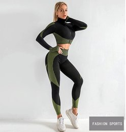 hottest blue yoga pants Australia - 2020 Hot Sale Women Sportswear Yoga Set Fitness Gym Clothes Running Tennis Shirt+Pants Yoga Leggings Jogging Workout Sport Suit 20042002W