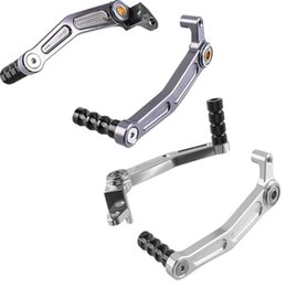 brake pedal sets NZ - 1 Set Motorcycle Rear Brake Gear Shifter Pedal Levers Alufer Fits DUKE 125 200 390 Gray Silver Aluminum Motor Accessories
