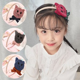 cartoon cat hair accessories Australia - Korean creative cartoon animal children's colorful cat cute cat band hair accessories sweet girl versatile hair band