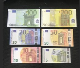 Most Realistic Prop money Euro dollar pound bar props children's toys adult game props special movie game Euro dollar pound stage money on Sale