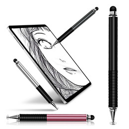 android tablets stylus Canada - Universal 2 in 1 Stylus Drawing Tablet Pens Capacitive Screen Caneta Touch Pen for Mobile Android Phone Smart Pencil Accessories (RETAIL)