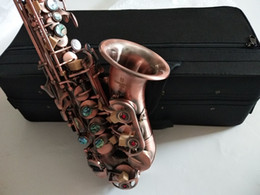 Wholesale New arrival Yanagisawa S-902 Red Antique copper Professional Soprano Saxophone Bb musical instruments with Mouthpieces Case