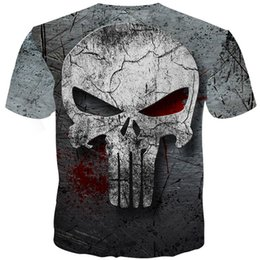 full sleeve tees men NZ - YOUTHUP 2020 Skull Full Print Tees Homme Punisher 3d Fitness Compression Men T Shirt Plus Size MX200611