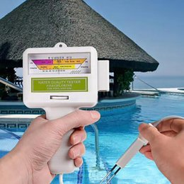 tester ph chlorine UK - Chlorine Water Quality Tester Portable Pool Water Cleaner Spa Aquarium PH Meter Test Monitor Checker Swimming Pool Accessories