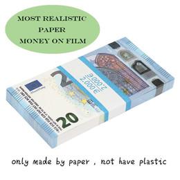 Wholesale Movie money euro 5  10 20 50 Paper copy banknote prop money euro 100pcs pack