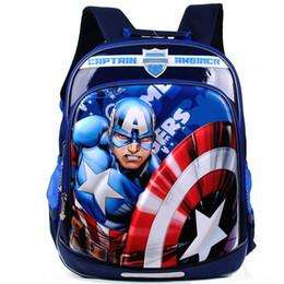 Wholesale boy dirt for sale – custom Marvel Captain America schoolbag pupil male Grade Bag backpack D film pressing dirt resistant backpack