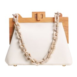 box handbags NZ - Women'S Box Bag Bucket Bag Wooden Clip Evening Ins Acrylic Chain Luxury Handbag Banquet Party Purse Shoulder