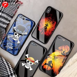 monkey glasses NZ - One Piece Customized Glass Cover 11 Pro X R S MAX DIY Monkey D Luffy Phone case for iPhone 8 6s 7 Plus