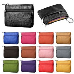 leather change purse men UK - NEW Women Men Leather Coin Purse Wallet Clutch Zipper Small Change Soft Bag Mini Drop Shipping