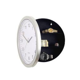 venda por atacado Círculo armazenamento oculto Caso Relógio de parede Branco Assista Relógios Cofre de suspensão Container Ocultar Sino Ocultar Hotel Decoração C2 17hl