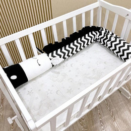 red white baby bedding NZ - Baby Cartoon Black White Zebra Shape Safety Crib Bed Fence Kids Baby Room Decoration Infant Bedding Supplies 53ua#