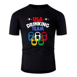 custom beer cans NZ - Printed Usa Drinking Team Beer Can Tabs Tshirt For Mens Humor Famous Comics T-Shirts Oversize S-5xl Hiphop Tops