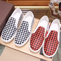 high quality weaves Australia - New high-quality outdoor casual shoes, pea woven leather breathable casual shoes set up fashion trend youth business wedding shoes, QWv