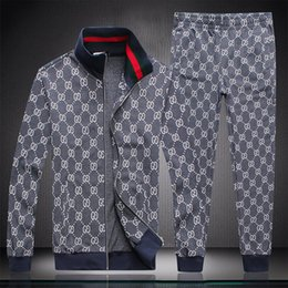 Wholesale mens camp pants for sale – dress 2020 New Mens Designer Tracksuits Men Sportswear Sweat Suits Brand Mens Tracksuits Jogger Suits jacket Pants Sets Sporting Suit Plus