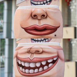 pig face masks UK - Dustproof Face 3D Mouth Cotton Mask Cartoon Cute Pig Mask Personality Washable For Women M VDRL