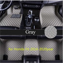 car for honda fit NZ - Tailor made car floor mat waterproof PU leather material, suitable for Honda Fit 2014-2020year